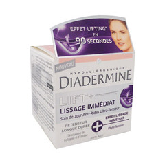 Diadermine, Lift + Lissage Immediat - Soin jour anti-rides Ultra-Tenseur, le pot de 50 ml