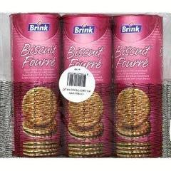 Biscuits ronds fourres chocolat HAUST, 3x300g