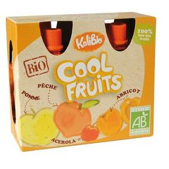 Cool Fruits - Compote en gourde Pomme - Peche - Acelora - Abricot