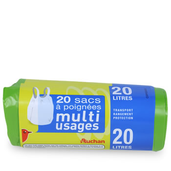Auchan sac multi-usages a poignees 20l x20