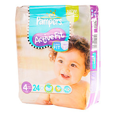 Pampers active fit 7-18kg paquet T4 maxi x24