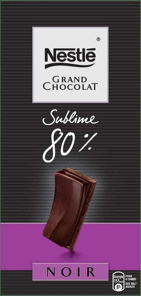 Nestle grand chocolat sublime 80% -100g