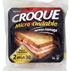 Croque Monsieur micro ondable SAPRESTI, 150g