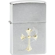 Zippo 1400004 No.200 Fancy Cross Cigarette Lighter