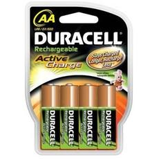 Piles rechargeable HR6 2000MAH Active Charge DURACELL, 4 unites