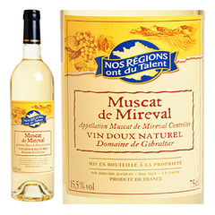 Muscat de Mireval AOC 15.5%vol Nos Regions ont du Talent 75cl