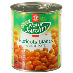 Haricots blancs Notre Jardin Tomate 500g