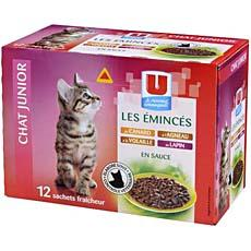 Aliment pour chaton Junior Eminces en sauce U,12x100g