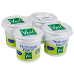 Fromage blanc nature bio Vrai 0% mg 4x100g