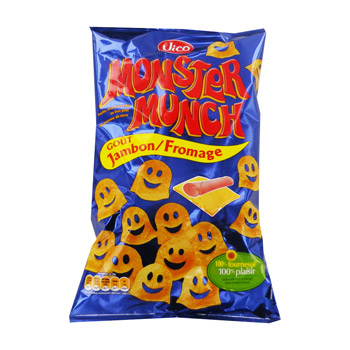 Monster munch jambon froamge 85gx2