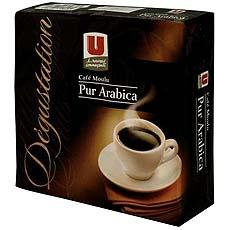 Cafe moulu pur arabica Degustation U 2x250g