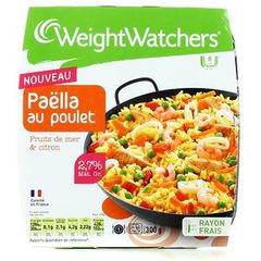 Paëlla au poulet fruits de mer et citron WEIGHT WATCHERS, 300g
