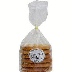 Biscuiterie Sada, Gateau sable nature, le paquet,350g