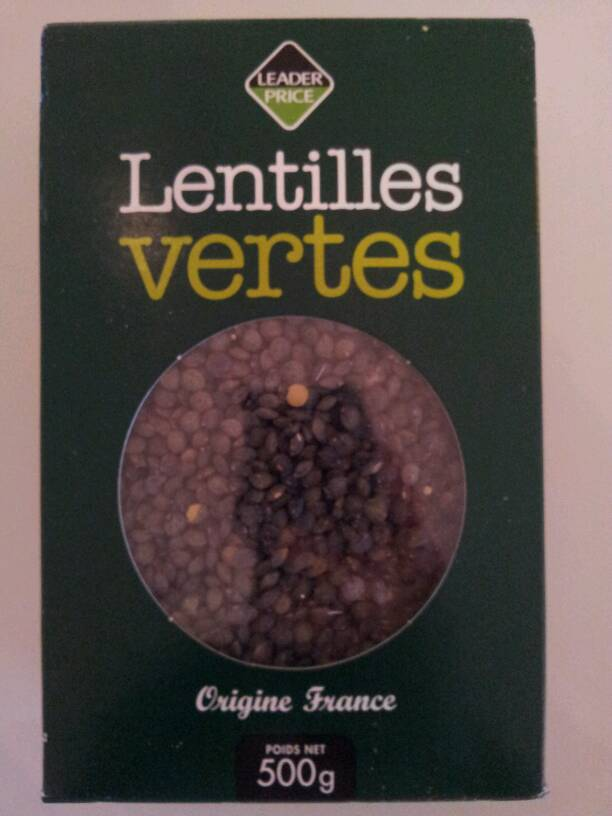 lentilles vertes 500g tous les produits l gumes secs prixing. Black Bedroom Furniture Sets. Home Design Ideas