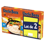 Uncle Ben's riz long grain 10min 2x1kg