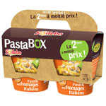 Sodebo pastabox fusilli fromage italien x2 dont 50% sur 2eme