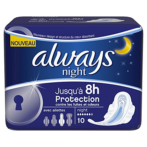 serviettes ultra nuit always night x10