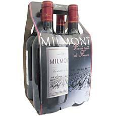 Vin rouge de table MILMONT, 4x75cl