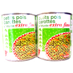 Auchan petits pois carottes extra fins 2x530g