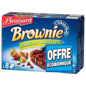Brossard lot 2 mini brownie noisettes x8
