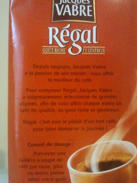 Jacques Vabre Regal moulu 250g