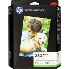 PACK 6 CARTOUCHES ENCRE HP Q7966EE N°363 + 150F
