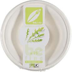 BOL SALADE BIODEGRADABLE ET COMPOSTABLE BE PULP 400ML X25