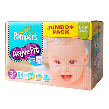 Couches Pampers Active Fit Jumbo box T3 x84