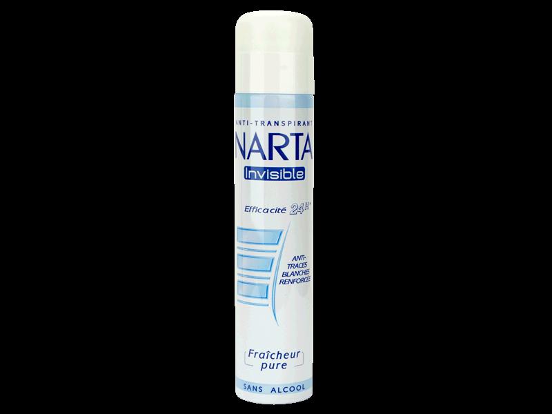 narta invisible deodorant fraicheur pure sans alcool anti traces blanches la bombe 200ml. Black Bedroom Furniture Sets. Home Design Ideas