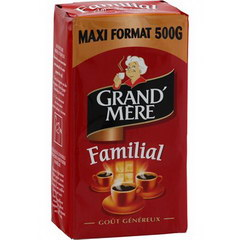 Cafe moulu Familial GRAND MERE, 500g