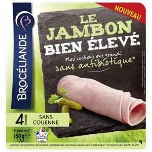 Broceliande jambon cuit superieur 4 tranches 160g