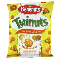 Cacahuetes Twinuts Benenuts Saveur barbecue Soleil 125g