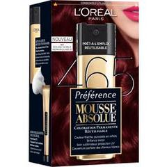 Coloration permanente Mousse Absolue PREFERENCE, rouge noble remarquable n°465