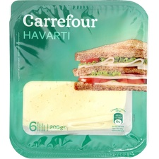 Fromage Havarti en tranches Carrefour