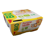 Auchan Bio compote pomme vanille x4