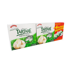 Fromage ail fine herbe Tartare Portions 2x6 256g