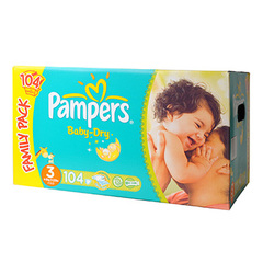Couches Pampers Baby Dry Family pack T3 x104