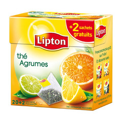 the agrumes 20 sachets lipton