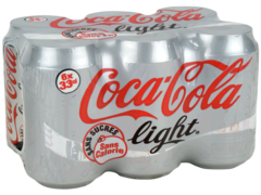Soda au cola sans calorie Coca-Cola Light