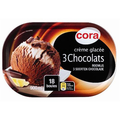 Creme glacee aux 3 chocolats