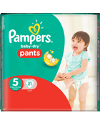 Culottes Pampers Baby Dry Pants Taille 5 12 à 18 kg