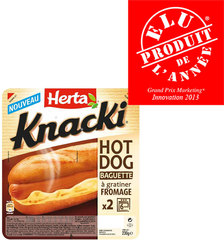 Hot dog Knacki au fromage HERTA, 230g