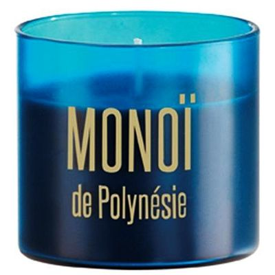 Bougie en pot colore satine monoi