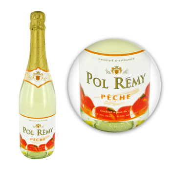 Cocktail peche Pol Remy A base de vin 75 cl