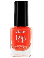 Miss Cop Vernis à Ongles Pop Nails Mandarine 12 ml - Lot de 2
