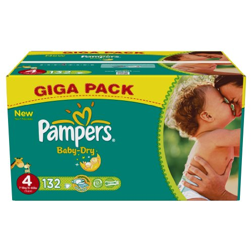 Pampers baby dry giga pack T4 x132