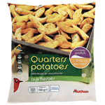 Auchan quarters potatoes aux herbes 700g