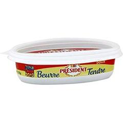 Beurre tendre doux PRESIDENT, 125g