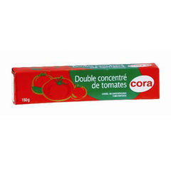Double concentre de tomate