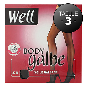 Collant voile Body Galbe WELL, taille 3, noir